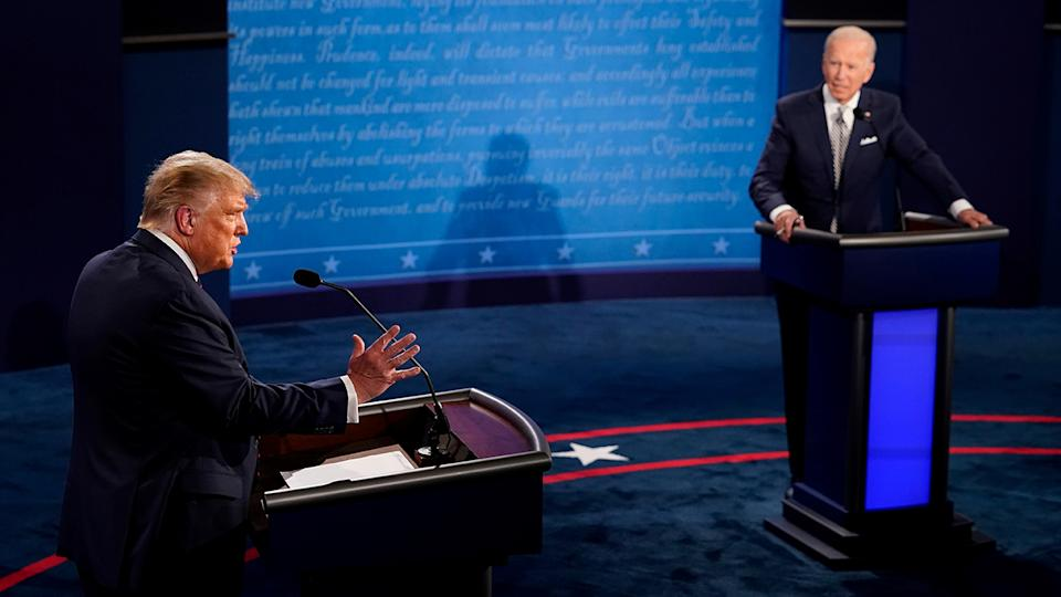 President Trump and Joe Biden in their first 2020 presidential campaign debate