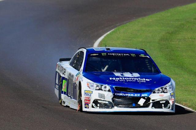 Dale Earnhardt Jr.'s wounded car. (Getty Images)