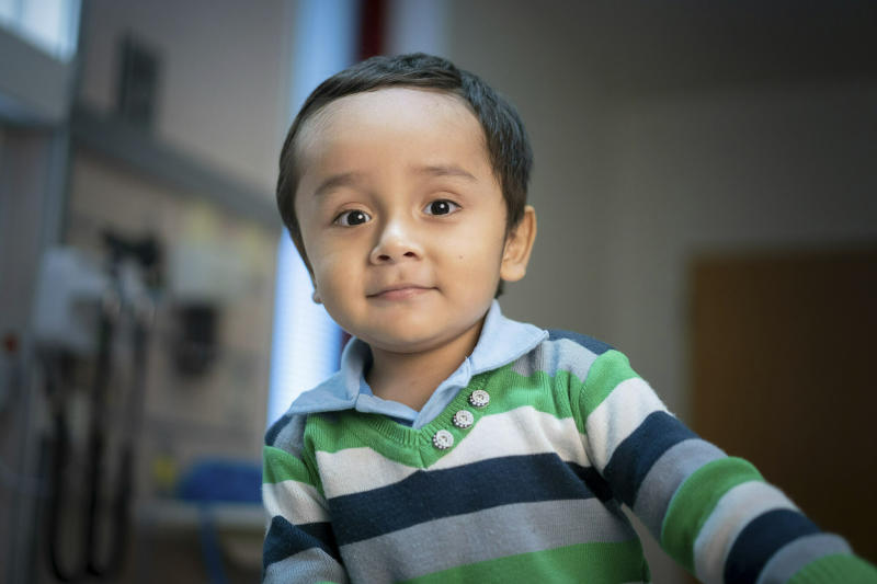"This April 2019 photo provided by the St. Jude Children's Research Hospital shows 2-year-old Gael Jesus Pino Alva at the hospital in Memphis. Gael was one of eight babies with ""bubble boy disease"" who have had it corrected by gene therapy that ironically was made from one of the immune system's worst enemies _ HIV, the virus that causes AIDS. (Peter Barta/St. Jude Children's Research Hospital via AP)"