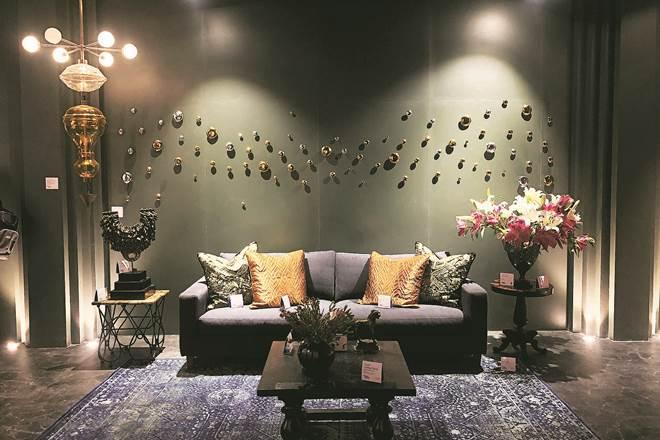 A design studio, created by Gurugram's White Domus Designs, uses experimental pieces, contemporary lighting and furniture, modern installations and quirky decorative products