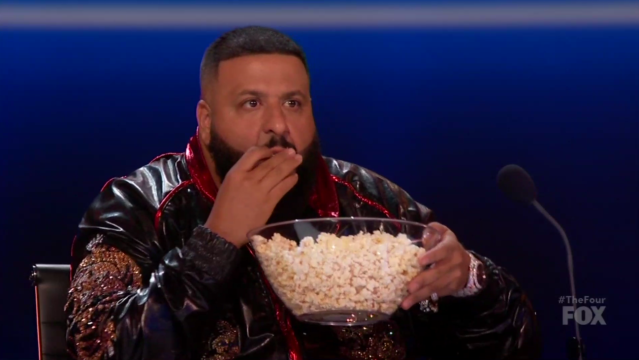 DJ Khaled is protecting the bowl. (Photo: Fox)
