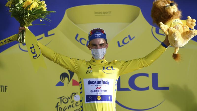 Julian Alaphilippe pips Adam Yates to victory on stage two of Tour de France