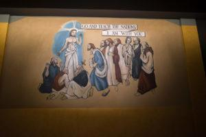 One of the five replicated biblical murals. Photo: Coconuts