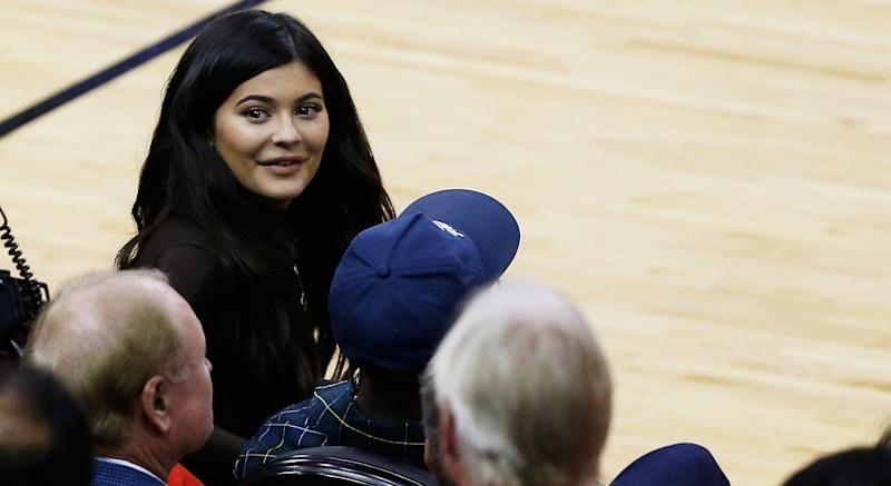 Kylie Jenner throws a Raptors-themed party during Game 6 of NBA Finals. (Photo by Bob Levey/Getty Images)