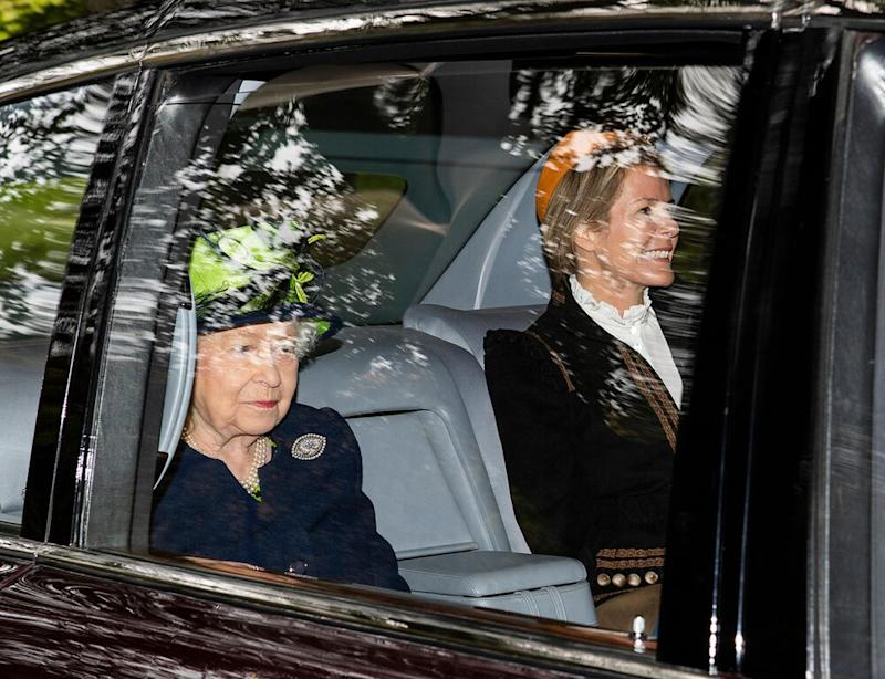 Queen Elizabeth with Autumn Phillips