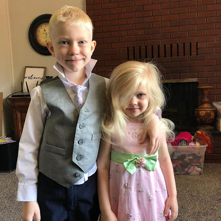 Bridger Walker and his sister. (Courtesy Walker family)