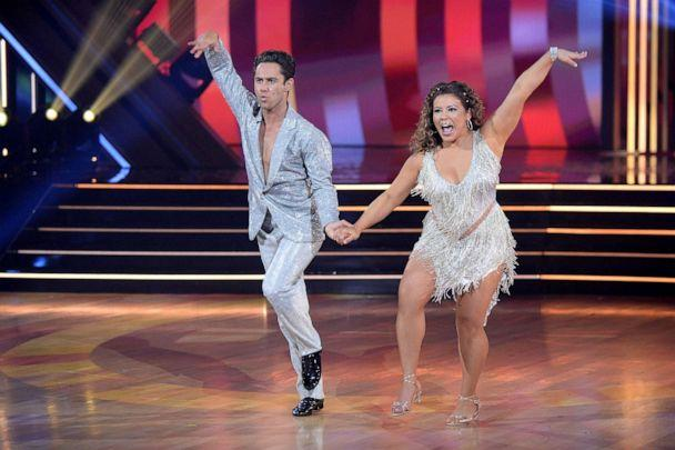 PHOTO: 'Dancing with the Stars' stars Sasha Farber and Justina Machado. (Eric Mccandless/ABC)