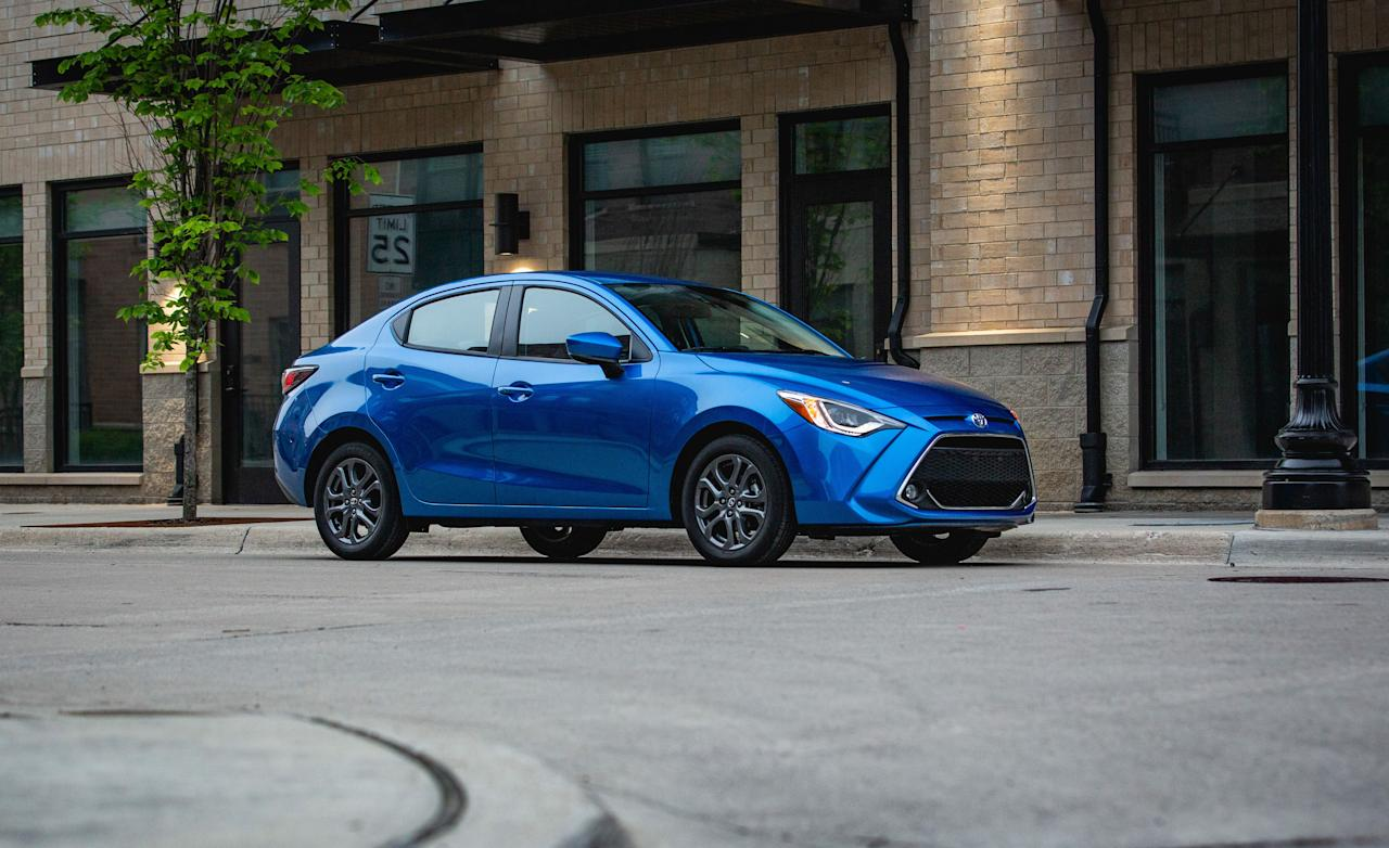 "<p>Toyota solicits some help from Mazda to offer the 2019 Yaris (previously Yaris iA). Despite its agreeable $16,530 base price, the Yaris is our favorite in the subcompact class, providing a lighthearted driving experience and an upscale interior. Read the full story <a href=""https://www.caranddriver.com/reviews/a28474951/2019-toyota-yaris-by-the-numbers/"" target=""_blank"">here</a>.</p>"