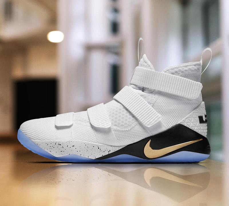 LeBron's Zoom Soldier 11 adds one more strap into the mix than last year's model. (Nike)