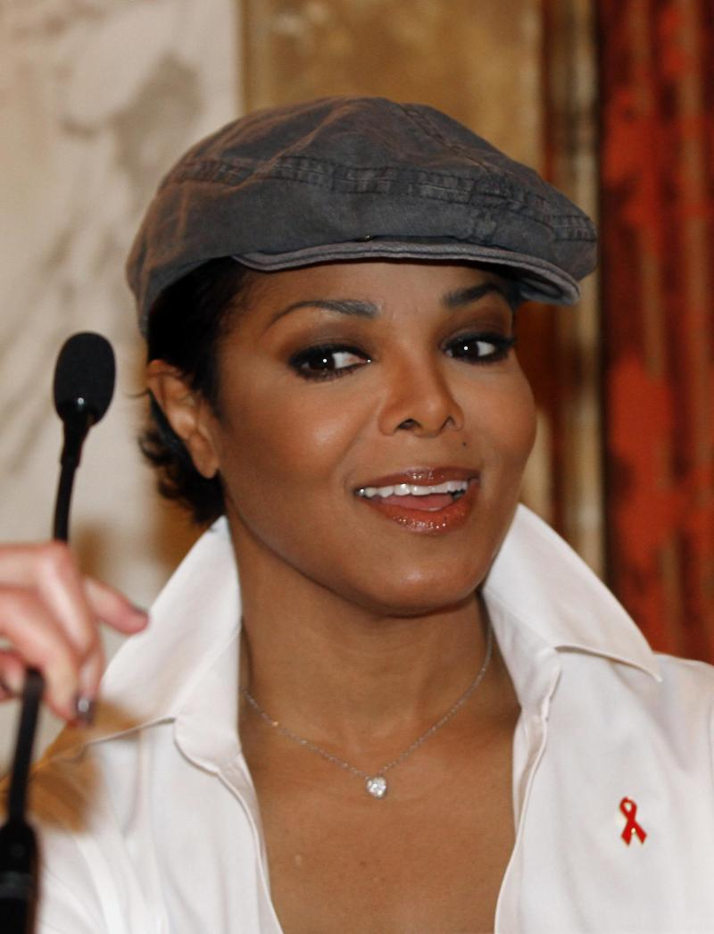 US singer Janet Jackson of American Foundation for AIDS Research, amfAR, speaks at a press conference for the Austrian Life Ball, the annual AIDS charity gala in Europe known as 'the Life Ball',  in Vienna, Austria, on Saturday, May 21, 2011. (AP Photo/Ronald Zak)