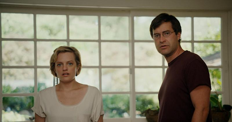 """This photo provided by the Sundance Institute shows Elisabeth Moss, left, and Mark Duplass, from the film, """"The One I Love,"""" premiering at the 2014 Sundance Film Festival. The movies that populate independent film festivals continue to elicit lead actors hoping to foster career shifts. Robert Redford's Sundance, kicking off it's 30th year on Thursday, Jan. 16, 2014, in Park City, Utah, continues to attract the crux of the film business. The indie fest is the ideal place to cast a new net. (AP Photo/Sundance Institute, Doug Emmett)"""