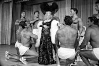 <p>Mae West making her nightclub debut at Hotel Sahara. After her cinematic career ended, she continued performing in Las Vegas.</p>