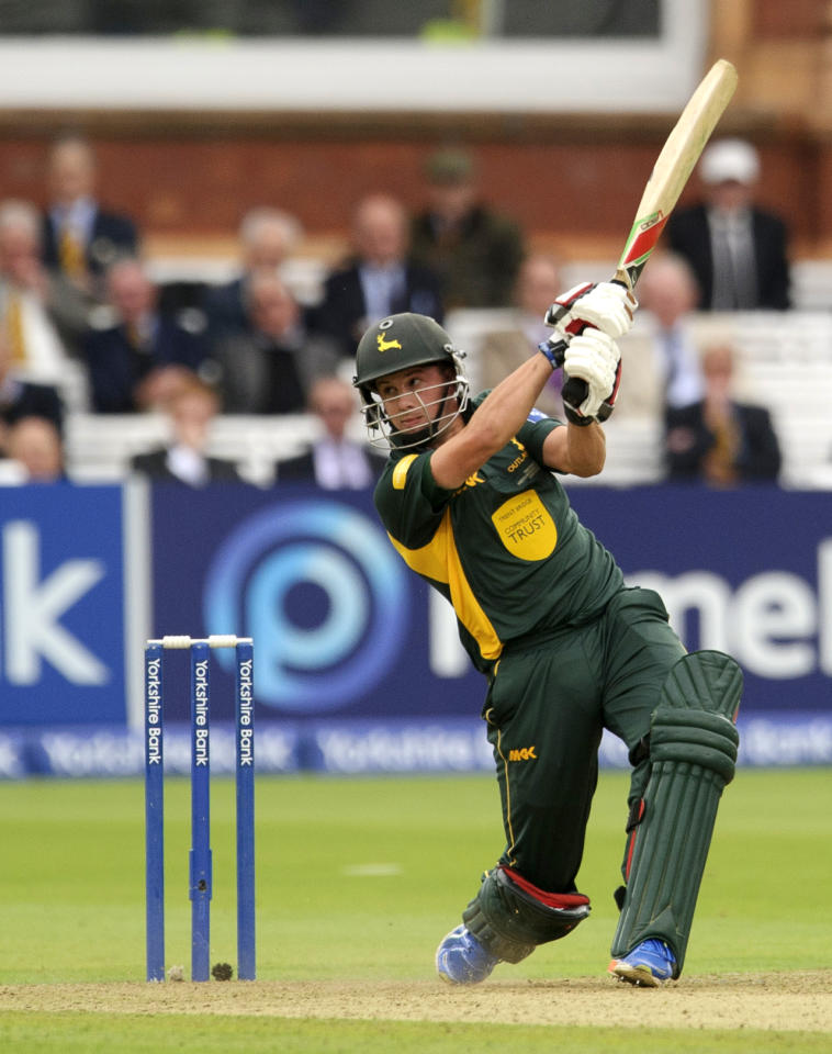Nottinghamshire's Steven Mullaney during the Yorkshire Bank Pro40 Final at Lord's Cricket Ground, London.