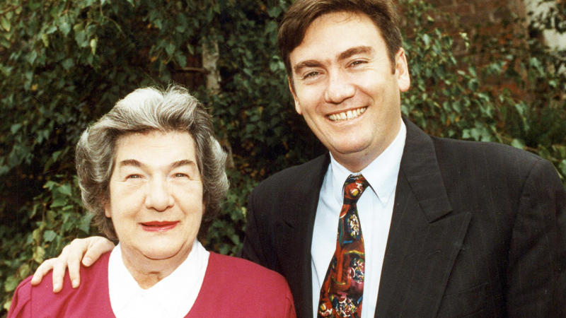 Eddie McGuire, pictured here with mother Bridie before her death.