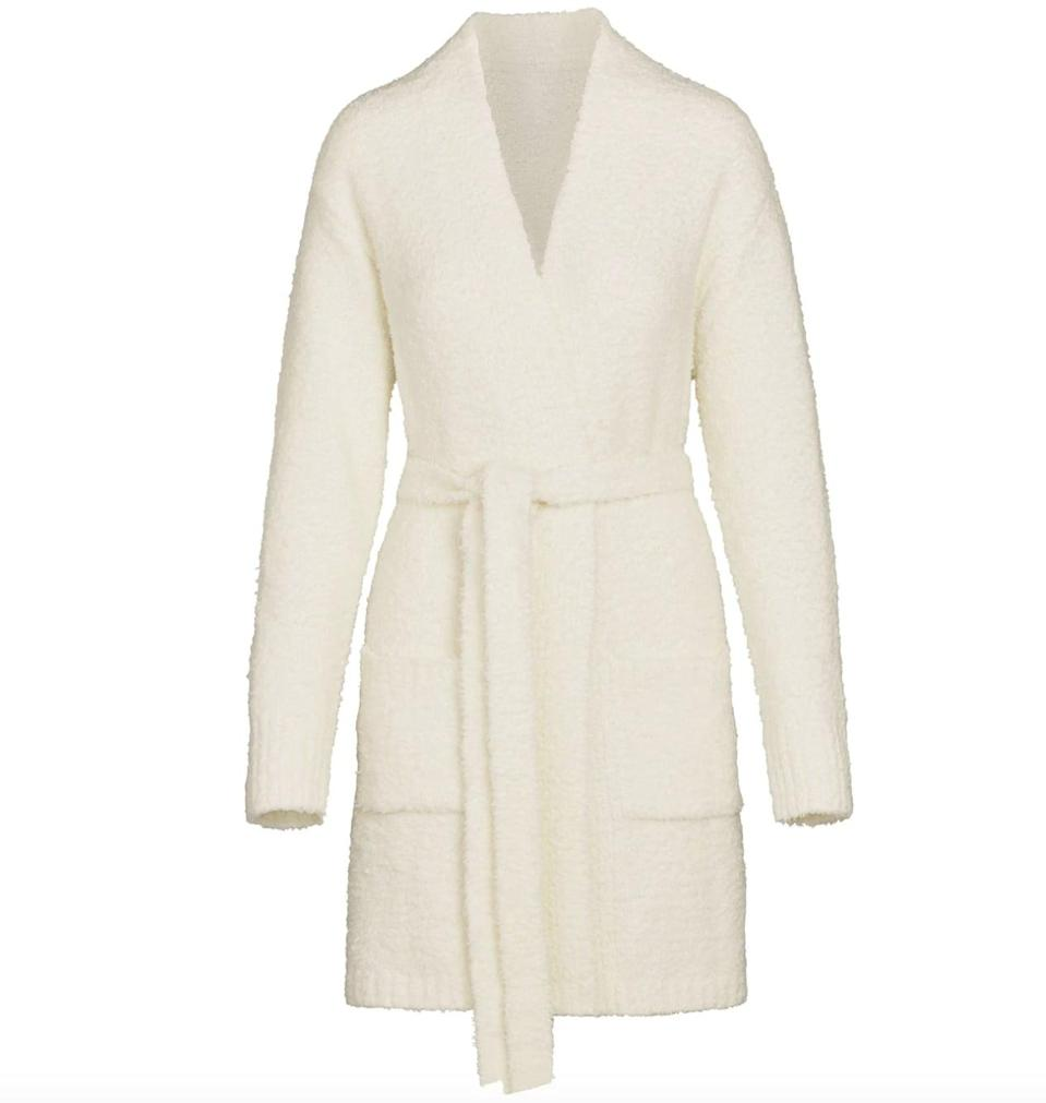 """<p><span>Skims Cozy Knit Short Robe</span> ($108)</p> <p>""""I'm living in my Skims Cozy Robe but I am very excited they are launching a shorter version. They're also making kids sizes so it can be a perfect family gift for those who like the mommy and me pairing."""" - LS</p>"""