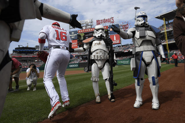 MLB playoff game interrupts 'Star Wars' marathon on TNT. (AP Photo/Nick Wass)