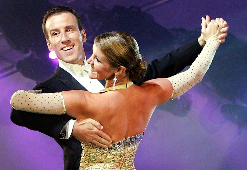 LONDON, ENGLAND - SEPTEMBER 11: BBC's Strictly Come Dancing stars, Anton Du Beke and Erin Broag perform live on stage during Sadler's Wells - A Gala Evening of Dance at Tower of London on September 11, 2009 in London, England. (Photo by Simone Joyner/Getty Images)
