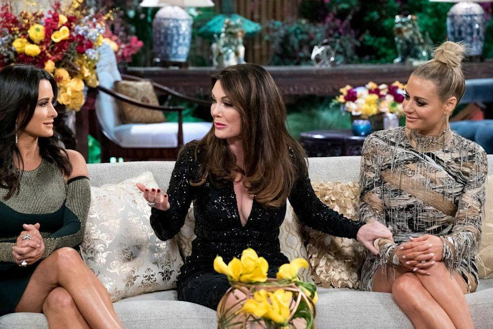 """<p>In a 2015 interview with <a href=""""http://www.irealhousewives.com/2015/04/andy-cohen-says-real-housewives-shows.html"""" rel=""""nofollow noopener"""" target=""""_blank"""" data-ylk=""""slk:Attitude"""" class=""""link rapid-noclick-resp""""><em>Attitude</em></a>, Andy explained why: """"The show works so well because it's all people who have long histories with each other. So it's not just throwing people together in a <em>Big Brother</em> house and seeing what happens."""" Think: Dorit Kemsley and Lisa Vanderpump or Dorinda Medley and Ramona Singer.<br></p>"""