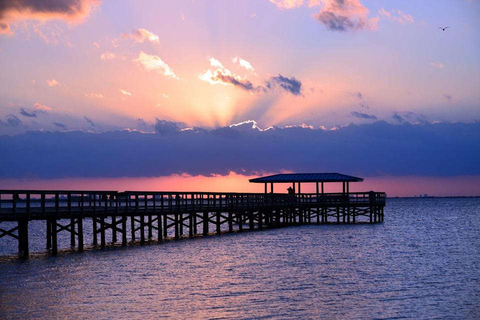 Photo of sunset and pier in Safety Harbor