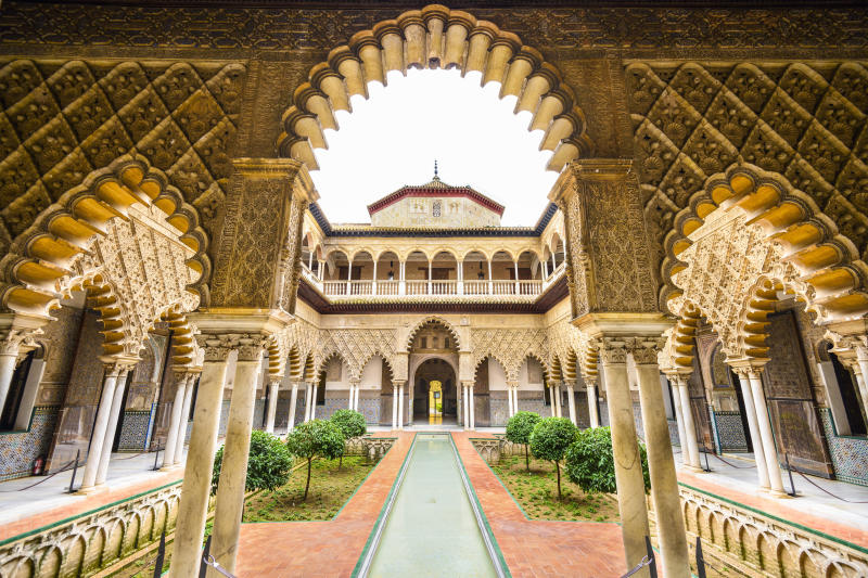 The Alcázar's Courtyard of Maidens (SeanPavonePhoto via Getty Images)