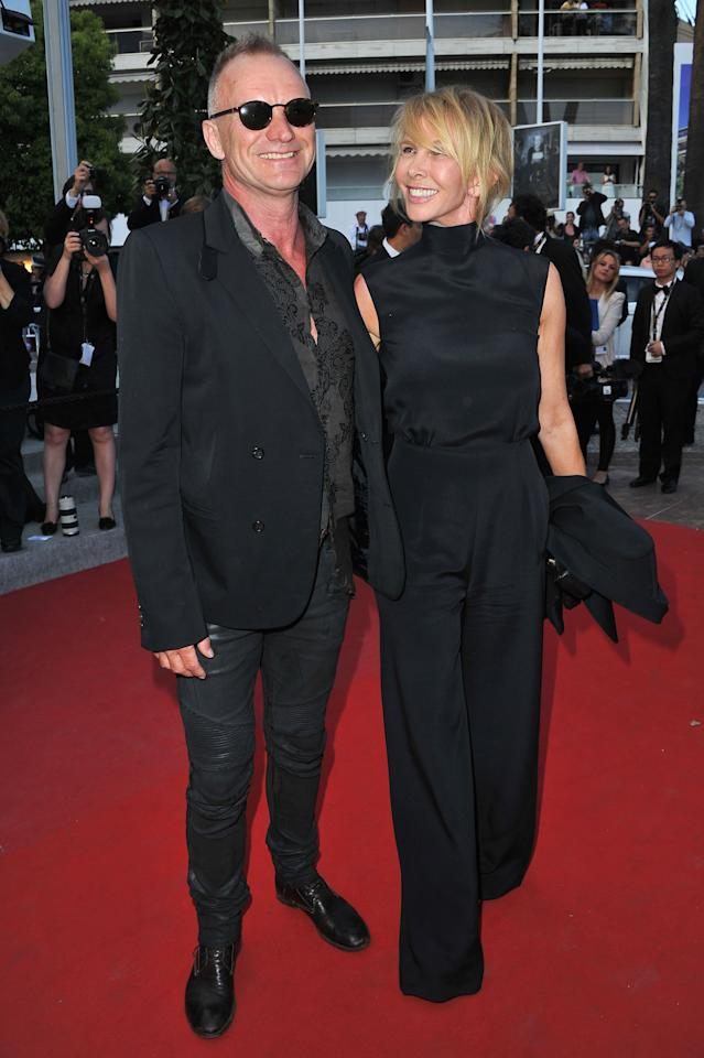 CANNES, FRANCE - MAY 26:  Sting and Trudie Styler attend the 'Mud' Premiere during the 65th Annual Cannes Film Festival at Palais des Festivals on May 26, 2012 in Cannes, France.  (Photo by Pascal Le Segretain/Getty Images)