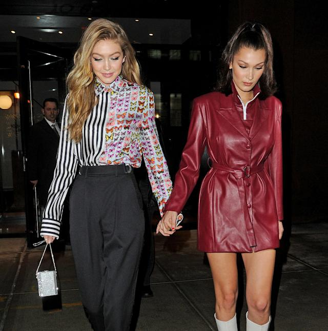 Gigi and Bella Hadid are featured together in <em>British Vogue</em> for the first time. (Photo: Getty Images)