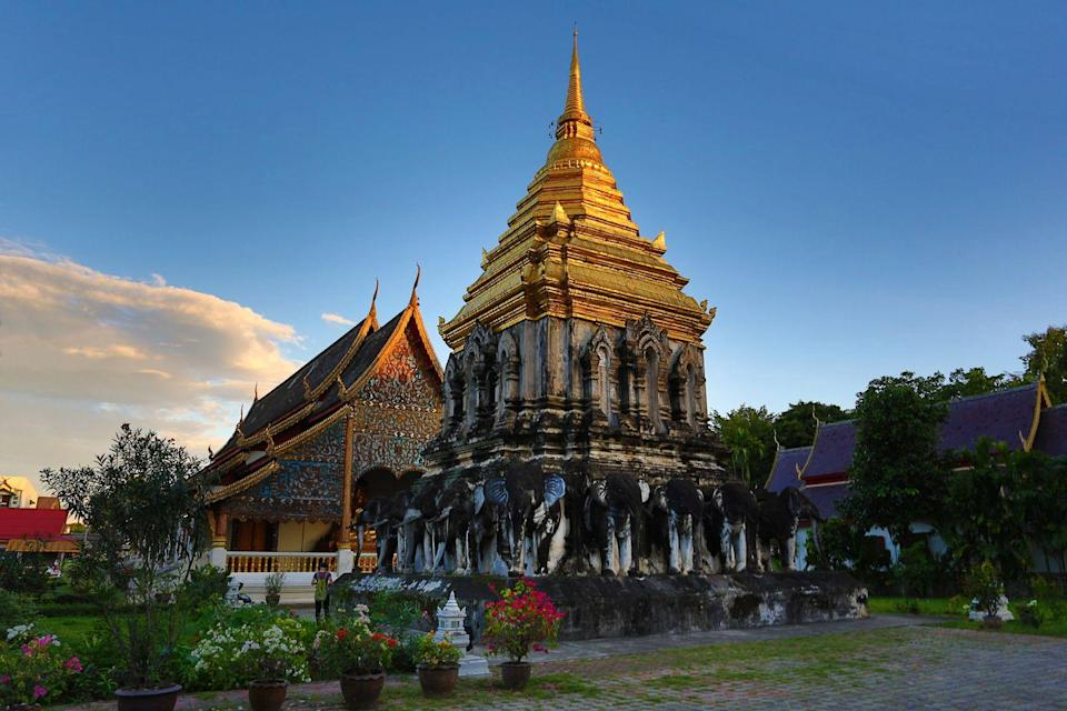 """<p><strong>Chiang Mai, Thailand</strong></p><p>Chiang Mai is the largest city in northern Thailand and is home to more than 30 temples, the two most famous being Wat Phra Singh and Wat Chedi Luang. You can check out the shopping at the Night Bazaar, visit various gardens, and (of course) get your fill of Thai food. The Thai Elephant Conservation Centre is located near the city and accessible via bus. There, you can ride the elephants and learn about the conservation of the animals. (Just getting on top of an elephant should help you check off a box on your overall life bucket list.)</p><span class=""""copyright"""">Photo: Paul Brown / REX Shutterstock. </span>"""
