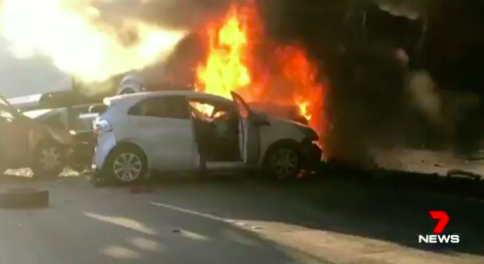 Drivers are being urged to avoid the area if possible or take the Old Pacific Highway or Peats Ridge Road. Source: 7 News
