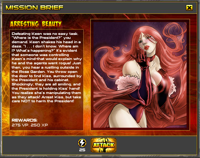 CLASH: Rise of the Heroes Arresting Beauty mission Kiss