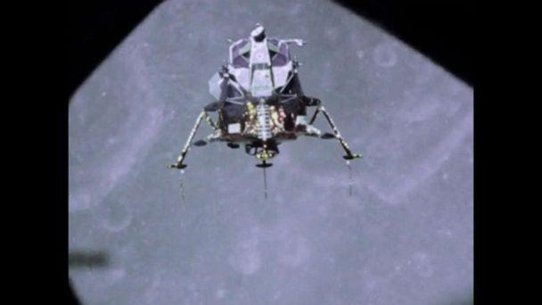 PHOTO: The Apollo 11 lunar landing is shown in this screen grab from a NASA video. (NASA)