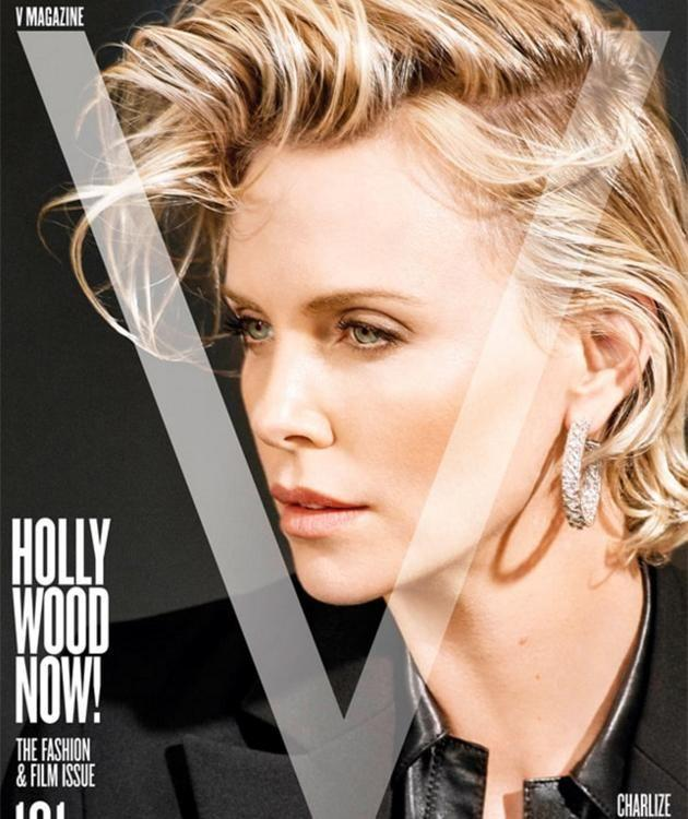 Charlize Theron's V Cover.