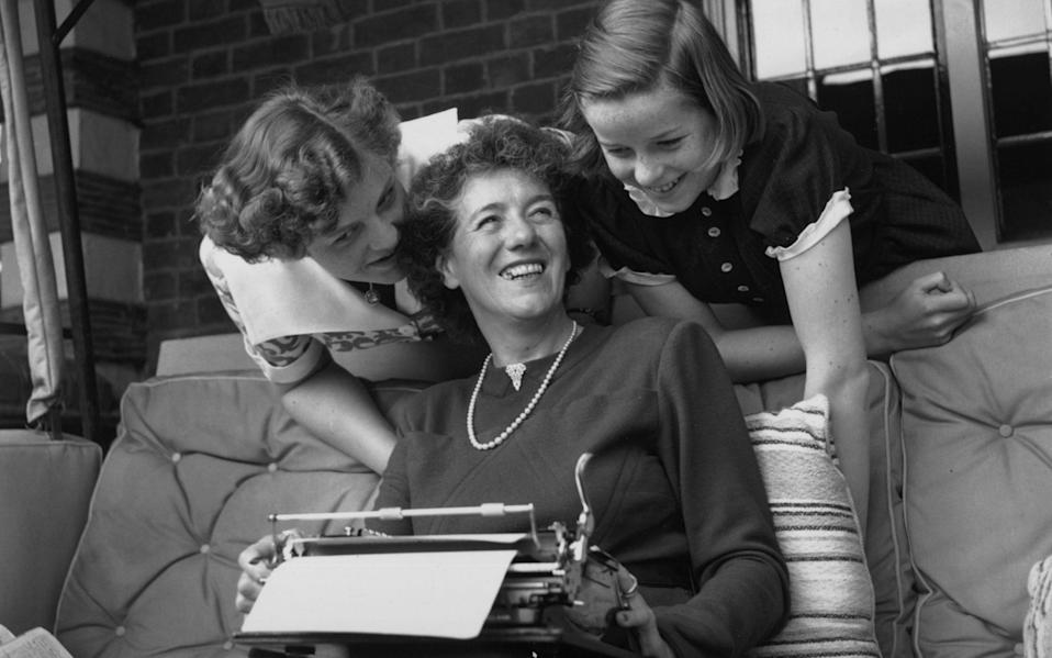 Famous Five author Enid Blyton, with her daughters Gillian and Imogen - Getty