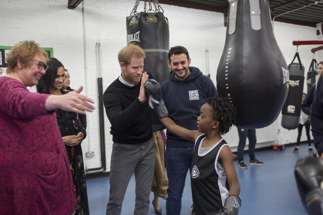 The Duke of Sussex spoke about the importance of charities like Empire Fighting Chance. Source: Getty