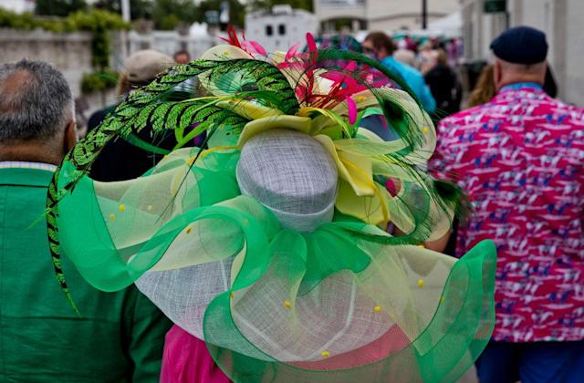 <p>A woman wears an exuberant display of bright colors. (Photo: Getty Images) </p>