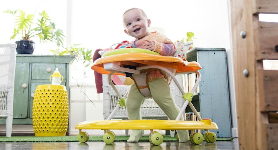The jumpers and walkers could cause injuries and developmental delays. Source: Getty