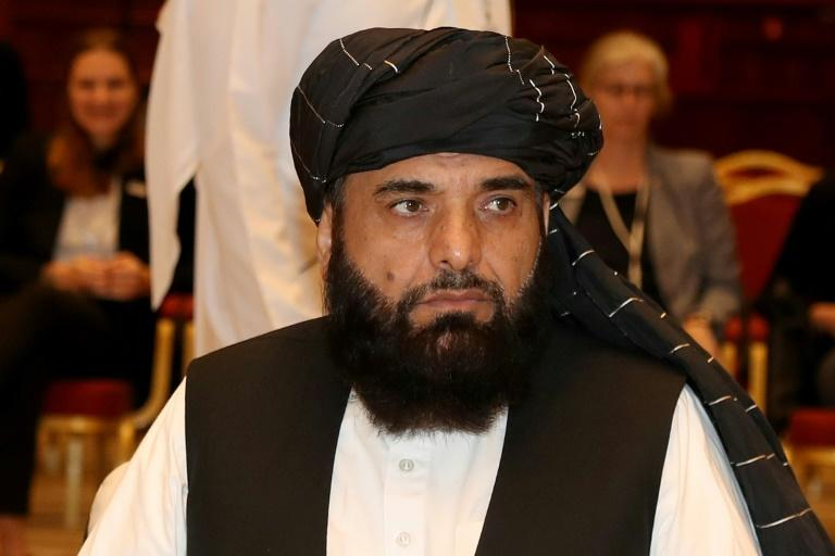 """Taliban spokesman Suhail Shaheen, pictured July 2019, said the negotiators are """"finalising the remaining points"""""""
