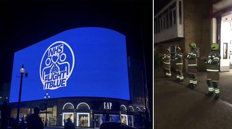 UK Citizens, Politicians And Royals Clap For NHS Workers Fighting Coronavirus, Popular Landmarks Light Up in Blue in Their Honour (See Pictures And Videos)