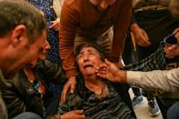 A missile strike levelled several homes in Azerbaijan's second city of Ganja on October 17