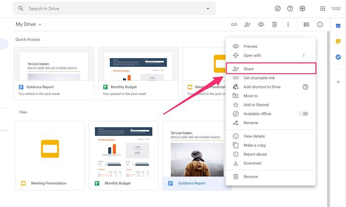 Sharing files is as easy as a right-click.