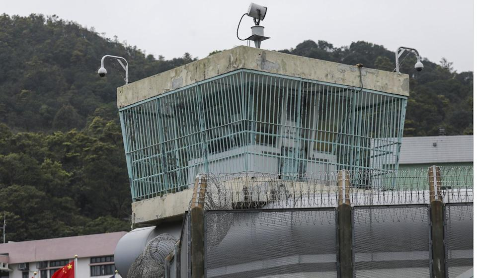 Surveillance cameras keep a close watch at a Hong Kong prison. Photo: Dickson Lee