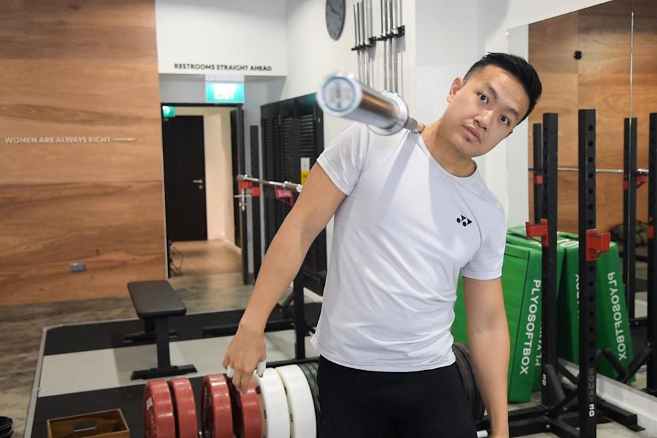 John Cheah endured through a long spell in the troughs of training without much improvement, but eventually got back on track following advice from his coach. (PHOTO: Stefanus Ian)
