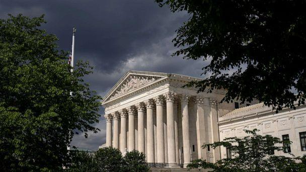 PHOTO: Clouds are seen above The U.S. Supreme Court building, May 17, 2021, in Washington, DC. (Drew Angerer/Getty Images)