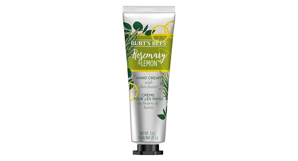 """Another great bargain buy, this cruelty-free hand cream is perfect for soothing dry hands and deliciously fragrance. <a href=""""https://fave.co/31aeUZ0"""" rel=""""nofollow noopener"""" target=""""_blank"""" data-ylk=""""slk:Shop now."""" class=""""link rapid-noclick-resp""""><strong>Shop now.</strong></a>"""
