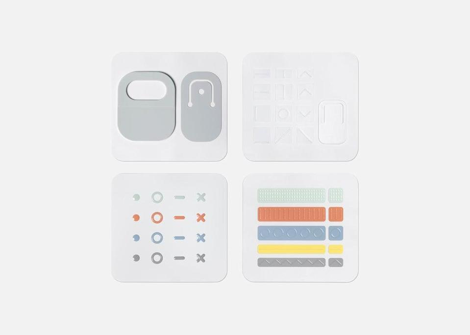 The kit contains a range of stickers, labels and tags to aid device accessibility. (Microsoft)