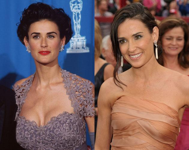 Demi Moore is famous for her ageless beauty and it's even more evident she's barely aged when looking at her Oscar picture from 18 years ago.