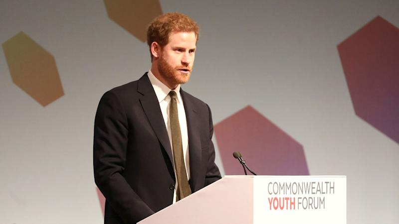Prince Harry Gives Meghan Markle a Shout Out in Forum Speech, Honors Queen Elizabeth