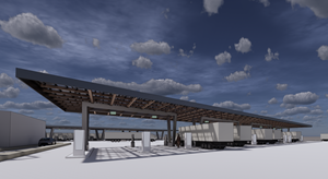 WattEV is building the nation's first 25-megawatt, solar-powered, electric-only public truck stop to serve electric truck transport between California's fast-growing Central Valley and Southern California's bustling ports and shipping hubs.