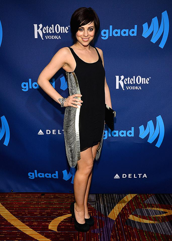 NEW YORK, NY - MARCH 16:  Actress Krysta Rodriquez attends the 24th Annual GLAAD Media Awards on March 16, 2013 in New York City.  (Photo by Larry Busacca/Getty Images for GLAAD)