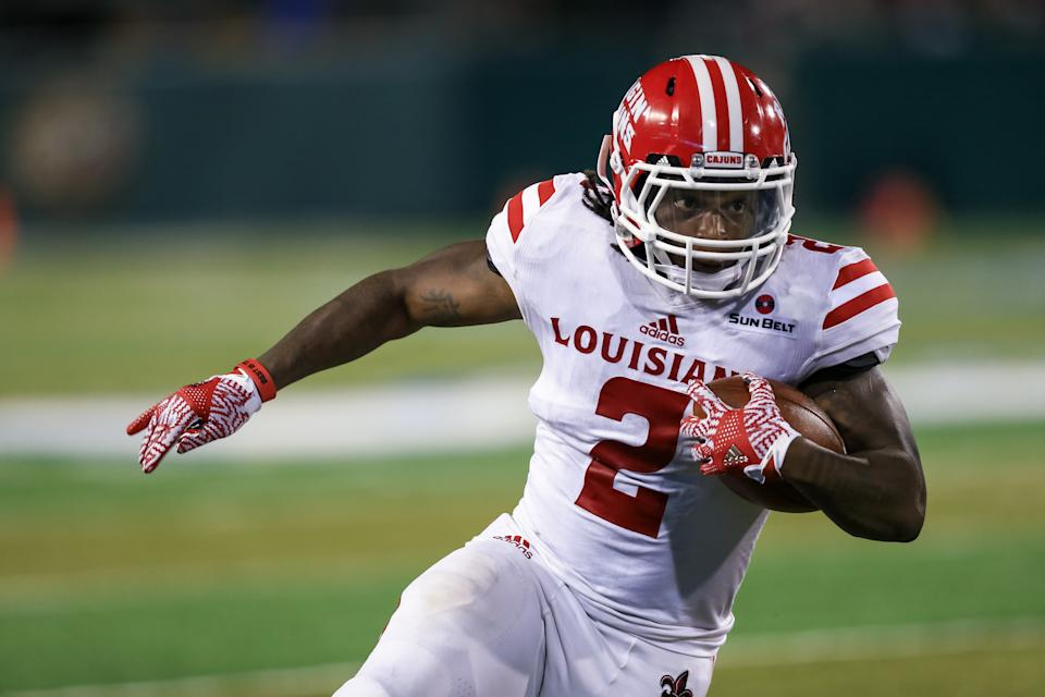 September 24, 2016:  Louisiana-Lafayette Ragin Cajuns wide receiver Al Riles (2) during the second half of the game between the Tulane and the Louisiana-Lafayette at Benson Field at Yulman Stadium in New Orleans, LA.  Tulane defeats Louisiana-Lafayette 41-39 in 4 overtimes.  (Photo by Stephen Lew/Icon Sportswire via Getty Images)