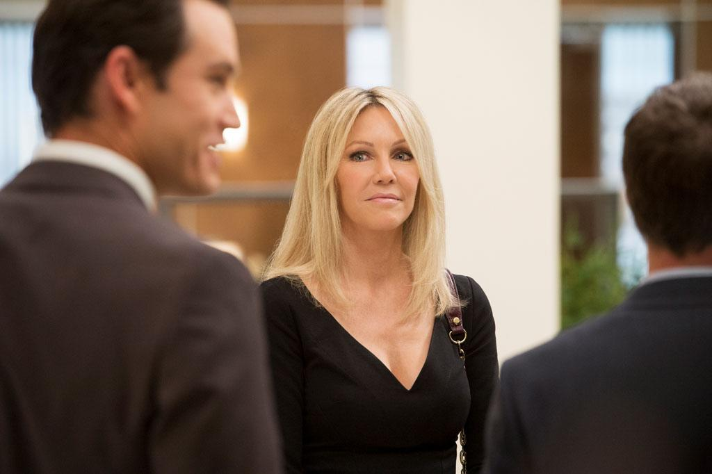 "Mark-Paul Gosselaar and Heather Locklear in the ""Franklin & Bash"" Season 3 Premiere, ""Coffee and Cream."""